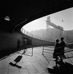 slussen, stockholm. photographer erik liljeroth. 1950s. #stockholm
