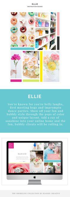 Ellie Shoreline Collection Design by Seaside Creative. ProPhoto Blogsites + Showit Website.