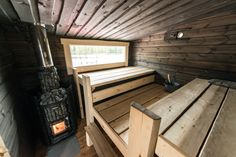 Sauna Room, Rocket Stoves, Country Living, Home And Living, Tiny House, Cottage, Cabin, Interior Design, Decks