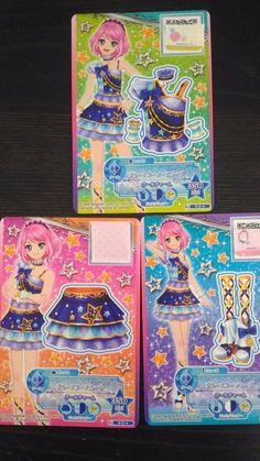 "Trading card of Japanese Animation ""AIKATSU STARS"" blue star coorde 15(PROMO)"