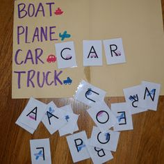 Sight words / transportation activity
