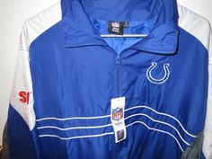 NWT New SI NFL Mens Indianapolis Colts Swag Windbreaker Cool Fall Jacket Sz XL #IndianapolisColts