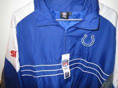 NWT New SI NFL Mens Indianapolis Colts Swag Windbreaker Cool Fall Jacket Sz XL #IndianapolisColts