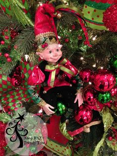 http://www.trendytree.com/raz-christmas-and-halloween-decor/raz-posable-elf-red-green-16-set-of-2.html