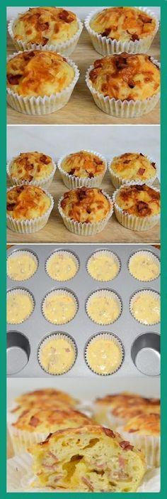 68 Ideas for breakfast quiche mini bacon Tapas, Muffin Recipes, Snack Recipes, Cooking Recipes, Breakfast Muffins, Breakfast Recipes, Bacon Breakfast, Pan Dulce, Love Food