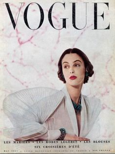 French Vogue, May 1951,Cover by Robert Doisneau.