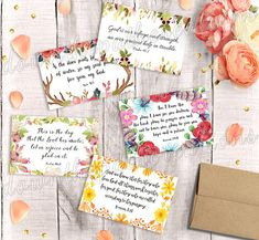 Printable Scripture cards-watercolor-trust in the lord with all your heart- inspirational cards -bible verse- encouragement scripture cards Printable Bible Verses, Scripture Cards, Printable Art, Bible Bookmark, Bookmarks, Verses For Cards, Kids Cards, Hand Lettering, Printables