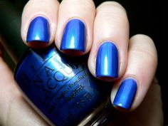 OPI Blue My Mind - my signature nail color - and inspired my color theme    20. Something you #modcloth #wedding