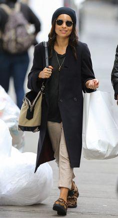 zoe-kravitz-new-york-city-alexander-wang-emile-burlap-bag-daria-leopard-print-calf-hair-loafers-1