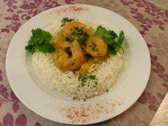Fisch-Crevetten-Curry im Basmatireisring