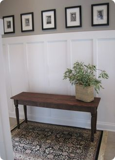 a bench like this in the dining room window for herbs/plants. Kids can eat there or color there. When you need more adult seating, it can work at the table, in the living room, or as a coffee table.