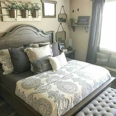 Headboard and bedding