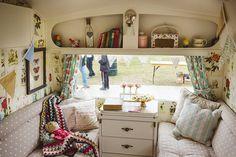Retro style Pippa caravan interior | Period Living