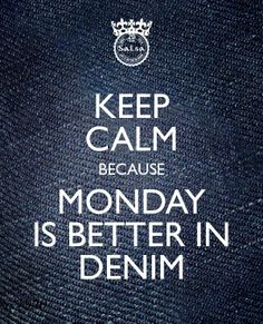 Keep calm! Actually everything is better in denim #salsajeans