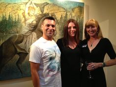 Steven Cuoco and Kimberly webber at her Art event in Santa Fe