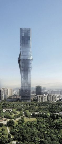 Hanking Center, Shenzhen, China by Urbanus and TECO Sustainable Architecture and Engineering :: 65 floors, height 350m :: competition entry