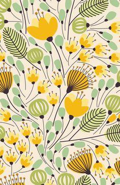 Floral Pattern - Doodle Pattern - Pattern Art Print by krisjames - Pamukpattern Trendy Wallpaper, Aesthetic Iphone Wallpaper, Spring Wallpaper, Floral Wallpapers, Vintage Wallpapers, Motif Floral, Floral Prints, Art Prints, Surface Pattern Design