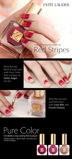 Nail Techniques How To Red Stripes Find This Pin And More On Show Me Your