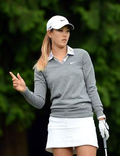 michelle wie | ... one in this photo michelle wie michelle wie reacts to her chip on the