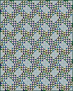 Free Ocean Waves Quilt Pattern: Ocean Waves Quilt Pattern, Layout Variation