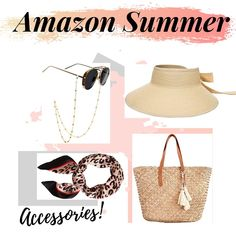 The cutest beach and summer accessories! Beach accessories, vacation essentials, amazon finds, bag, hat, dope sunglasses, affordable sunglasses chain #amazonfinds #amazonfashion Miami Fashion, Luxury Fashion, Love Her Style, Cool Style, Beach Vacation Outfits, Best Fashion Blogs, Summer Accessories, Affordable Fashion, Style Fashion