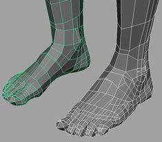 modeling foot in maya | free3DTutorials.com