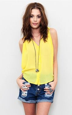 yellow top from Planet Blue