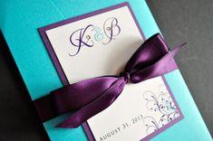 Pocketfold Wedding Invitations by JaxDesigns27 on Etsy