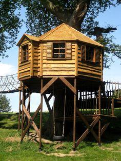 Stilted treehouses