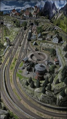 Beautiful scenery and track work onnthe nice indoor layoutYou can find Model trains and more on our website.Beautiful scenery and track work onnthe nice indoor layout Ho Scale Train Layout, Ho Train Layouts, Train Ho, Escala Ho, Train Miniature, Model Railway Track Plans, N Scale Model Trains, Train Pictures, Ho Trains