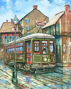 A Streetcar Named Desire by Dianne Parks - A Streetcar Named Desire Painting - A Streetcar Named Desire Fine Art Prints and Posters for Sale