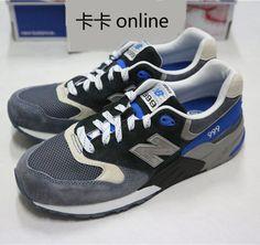 Zapatillas retro 2013 ML999CBK limitadas de dinero de los hombres de color azul grisáceo