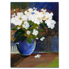 'The Blossoming' by Sheila Golden Painting Print on Canvas