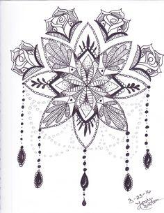 Flower Mandala #sharpieart #mandala