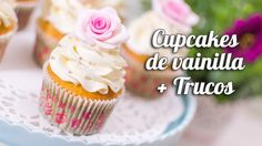 Ideas Cupcakes Recetas Vainilla For 2019 Wedding Cakes With Cupcakes, Fun Cupcakes, Birthday Cupcakes, Cupcake Cookies, Decorate Cupcakes, Valentine Desserts, Cupcake Youtube, Cupcakes Wallpaper, Easy Buttercream Frosting