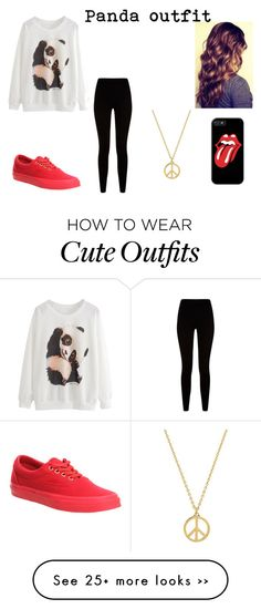 """Panda outfit"" by ignoredpest on Polyvore"