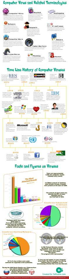 The history of viruses.