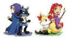 TeenTitans Pokemon by Kamobee on DeviantArt Pokemon, Teen Titans, Bowser, Dc Comics, Disney Characters, Fictional Characters, Animation, Deviantart, Anime