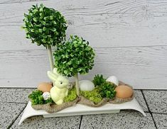 Xmas Crafts, Spring Crafts, Easter Crafts, Diy And Crafts, Artificial Flower Arrangements, Artificial Flowers, Floral Arrangements, Diy Ostern, Easter Projects