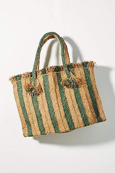 Anthropologie Candy Striped Woven Tote Bag #affiliatelink