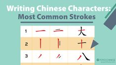 Here are 3 reasons why you should make handwriting Chinese characters part of your daily Mandarin studies:  • Improve your concentration, focus, and memory. • See the logical structure behind the Chinese language by understanding character composition. • Learn to appreciate the beauty of calligraphy and Chinese characters.  To help you practice correctly, we created an infographic of the 30 Most Common Strokes you can download now on this blog post. Click through and download it now!