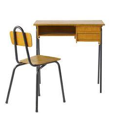 Une table basse partir dun ancien bureau dcole Sauvons les