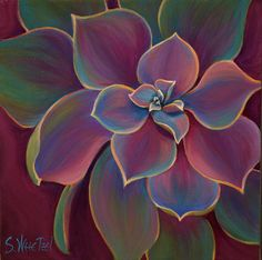 Succulent Delicacy 12x12 Acrylic ©Sandi Whetzel sold to private collector, [reproductions available]
