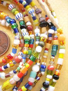 Ghana Glass Beads -3 Strands