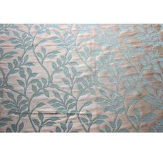 Light Turquoise Green Leaves Curtain Fabric by FabricMart on Etsy, $11.75
