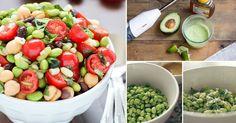 Receta de ensalada con frijoles de soja, una alternativa sana y riquísima.