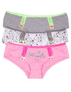 XOXO Juniors 3 Pack Cotton Hipster Panties with Lace Hip Details and Fun Patterns (Large, Wild/Pink/Gray/Leopard) XOXO http://www.amazon.com/dp/B00KCV5J8U/ref=cm_sw_r_pi_dp_U4tZtb0FV90AFK42