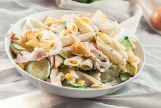Těstovinový salát se šunkou a vejci Potato Salad, Salads, Potatoes, Ethnic Recipes, Food, Diet, Potato, Essen, Meals