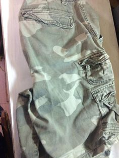 FOX JEANS Men/'s Ives Casual Military Camo Cargo Work Shorts SIZE 42