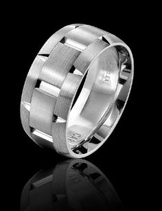 Luxury Platinum Carlex band, available at Marci Jewelry of Bellevue.